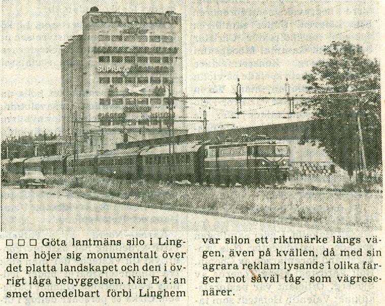 Tidningsurklipp om silon i Linghem