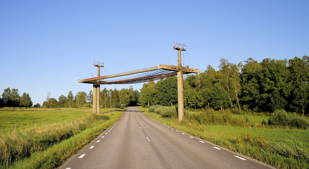 Vägskydd - Kalklinbanan Forsby-Köping
